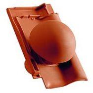 Creaton Елемент вентиляційнної труби керамічний d=125 сланцевий ангобований