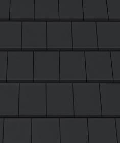 Creaton Domino черепиця рядова чорна матова ангобована