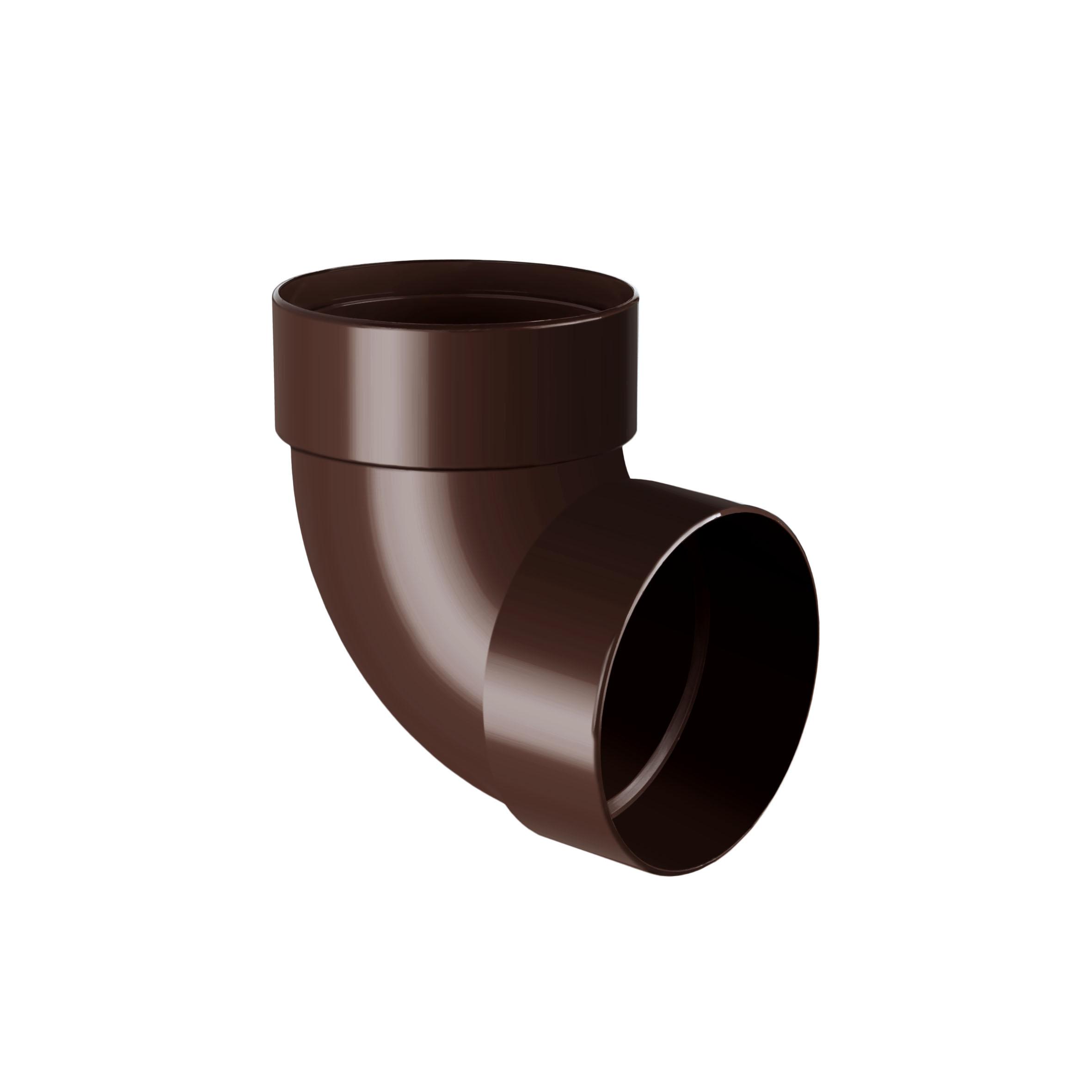 Rainway Коліно труби 100 двомуфтове 87 гр. коричневе