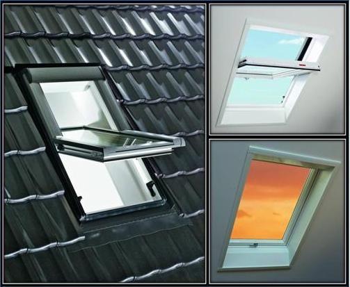Roto центрально-поворотне вікно Designo R45 K (ПВХ) 74 х 98