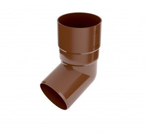 Bryza 90 Коліно труби, коричневе