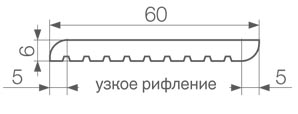 Gamrat Обробна планка 60 х 6 х 3000 мм сірий