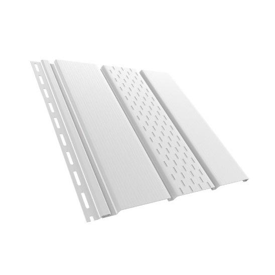 BudMat Софіт панель перфорована 306 х 3000 мм біла
