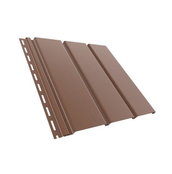 BudMat Софіт панель неперфорована 306 х 3000 мм коричнева