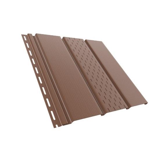 BudMat Софіт панель перфорована 306 х 3000 мм коричнева