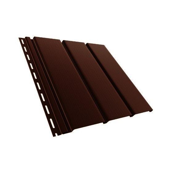 BudMat Софіт панель неперфорована 306 х 3000 мм темно-коричнева