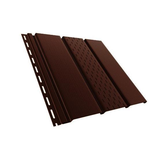 BudMat Софіт панель перфорована 306 х 3000 мм темно-коричнева