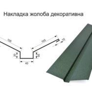 Накладка желоба декоративная матполиестер 0,45 мм