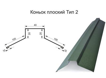 Коньок прямий (плоский) тип 2 матполіестер 0,45 мм