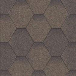Aquaizol Бітумна черепиця Мозаїка коричнева мікс