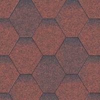 Aquaizol Бітумна черепиця Мозаїка червона мікс