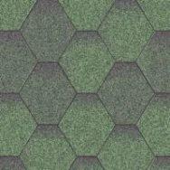 Aquaizol Бітумна черепиця Мозаїка зелена мікс