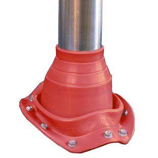 Dektite Original діаметр труби 5-127 мм основа діаметр 196 мм червоний